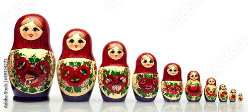 Nested doll - a dreny national Russian doll of handwork.