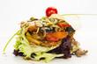 Салат из мяса , зелени и овощей