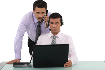 Telemarketer and manager