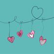 Valentine hanging hearts
