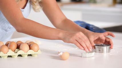 Woman preparing pastry