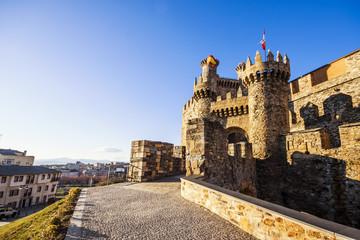 Ponferrada Templar castle,  Leon (Castilla y Leon), Spain. XII c