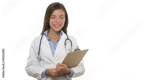 Medical doctor professional woman smiling portrait
