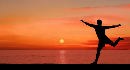 Run at sunset