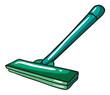 A green mop