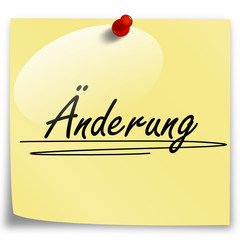 Post-It Änderung