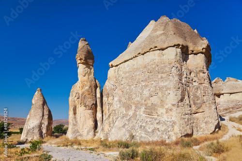 Rock formations in Cappadocia Turkey