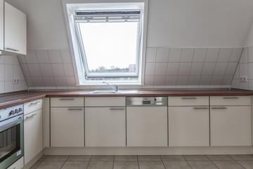 Küche, Einbauküche, Neubau, Dachwohnung