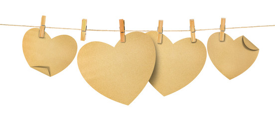paper hearts on rope