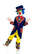 Boy clown over the white background