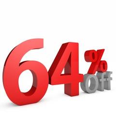 64 Percent off