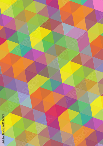 abstract vector background with symmetrical colorful shapes