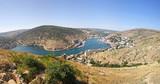 Panoramic bird-eye view of Balaklava bay, Crimea, Ukraine