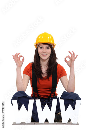 Tradeswoman thankful for modern technology