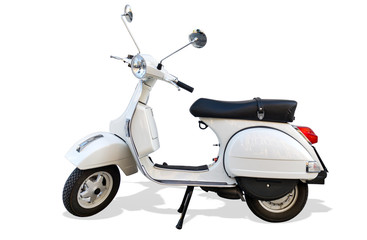 Italien Roller mit Freistellpfad Scooter with Clipping Path