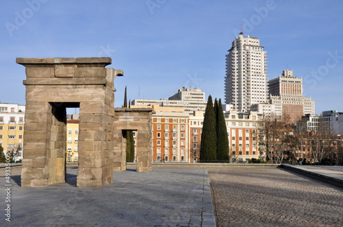 Debod temple, Madrid (Spain)