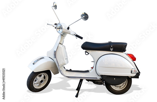 Leinwandbild Motiv Italien Roller mit Freistellpfad Scooter with Clipping Path
