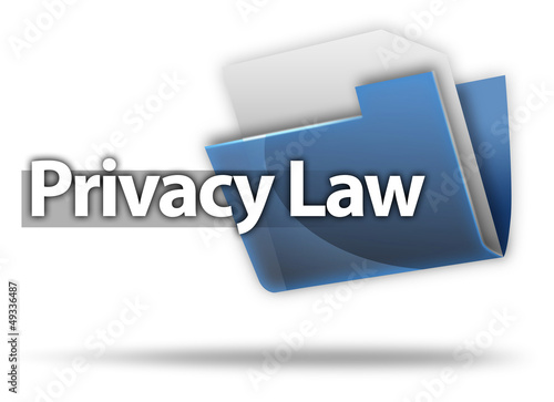"3D Style Folder Icon ""Privacy Law"""