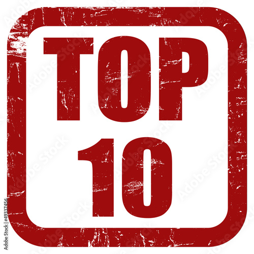Grunge Stempel rot TOP 10