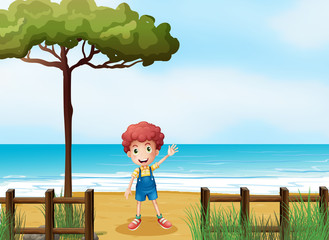 A boy at the seashore
