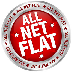 "Button Banner ""All Net Flat"" rot/silber"
