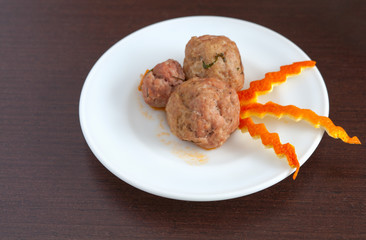 plate of meatballs on the table