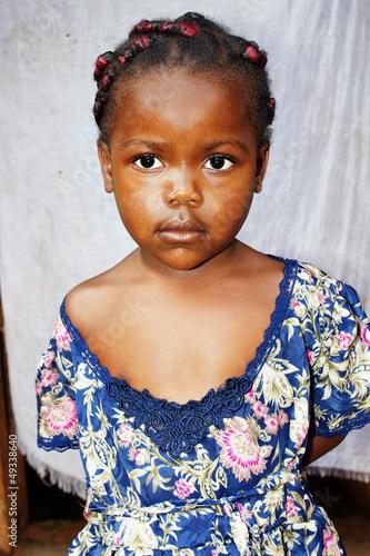 Fotobehang Overige Portrait of a very cute little African girl