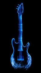 Guitar made of light and smoke