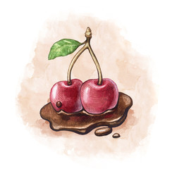 Illustration of a cherry