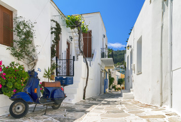 Typical small greek street