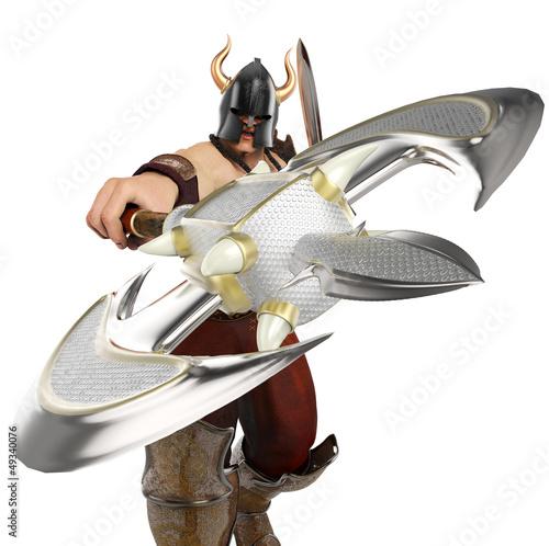 barbarian front atack close up
