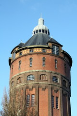 Water tower from 1912 in the city Groningen(The Netherlands)