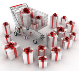 Shopping cart with gifts