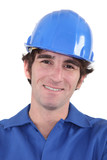 Architect wearing hard hat