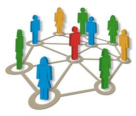 Netzwerk, Organisation, Coaching, Gruppe