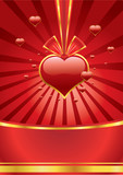 romance red background with red heart