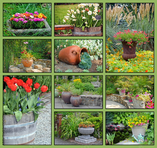Garden planter collage