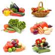 fresh vegetables - collage