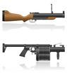 grenade-gun vector illustration