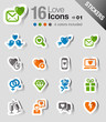 Stickers - Love and Dating icons
