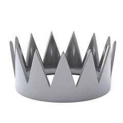 Silver crown, 3d