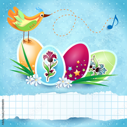 Easter background with banner