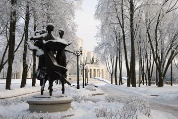 Ballet in the Winter Park