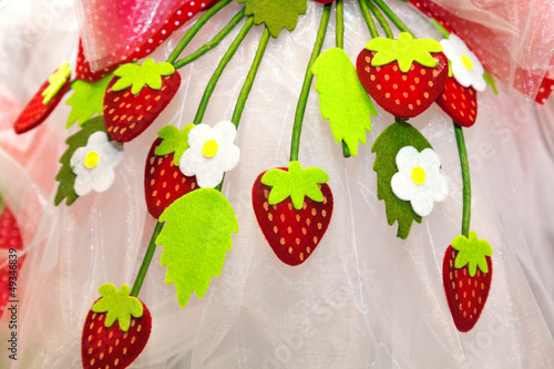 Fabric strawberries
