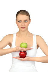 ballerina and apples