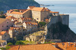 Dubrovnik Old Town roofs at sunse