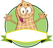Logo Of A Cartoon Peanut Mascot Character