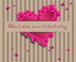 Valentinstag Rosen Herz Hintergrund