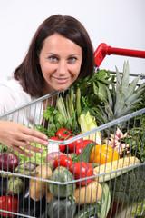 Brunette vegetarian