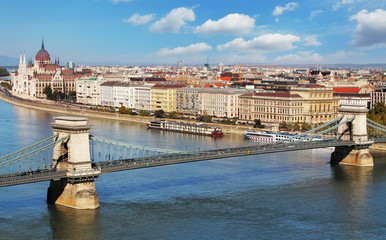 Budapest - panorama from castle, Hungary